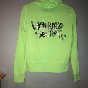 Victoria's Secret Jackets & Coats - Victoria's Secret Neon ZIP Up Hoodie Jacket